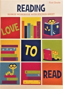 First Grade Reading 32-Page Workbook with Sticker Sheet