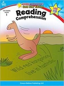 Reading Comprehension, Grade 1 Gold Star Edition (Home Workbooks)