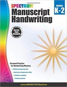 Spectrum Manuscript Handwriting, Grades K-2