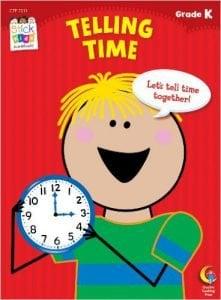 Telling Time Stick Kids Workbook, Grade K