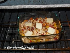 Baking the Peach Crisp