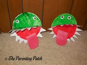 Completed A Is for Alligator Paper Plate Crafts