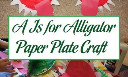 A Is for Alligator Paper Plate Craft