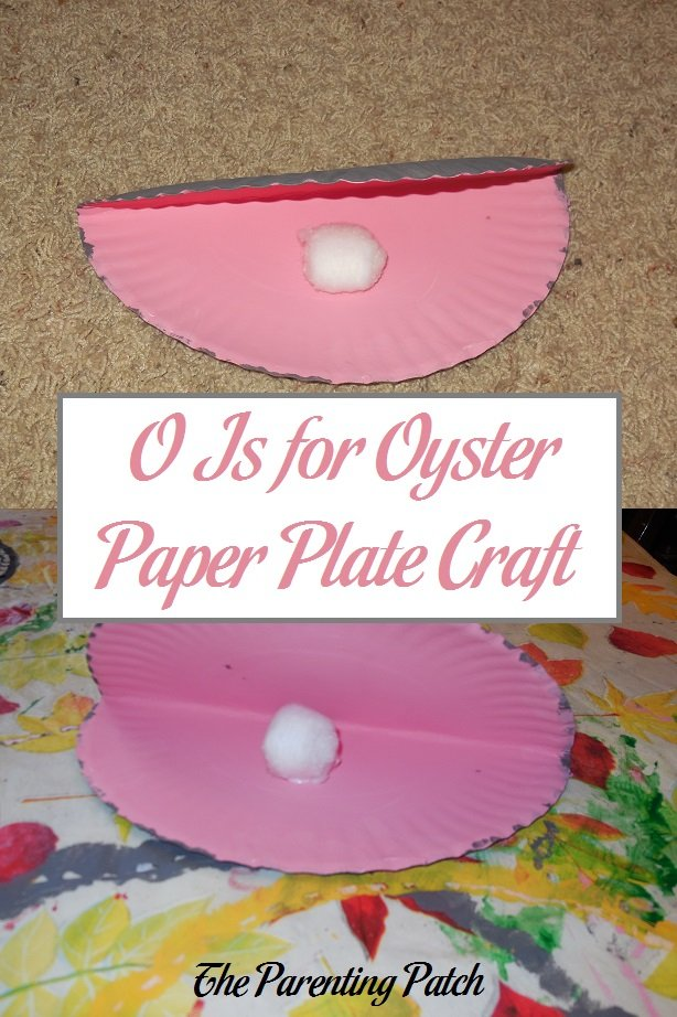 O Is for Oyster Paper Plate Craft