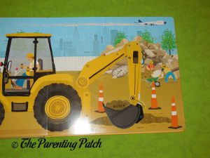 Inside Pages of Push-Pull-Turn! Dump Truck Gets to Work!