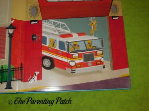 Inside Pages of Push-Pull-Turn: Fire Truck to the Rescue!