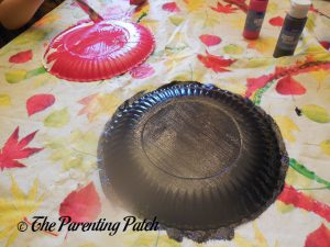 Painting the Paper Plates for the A Is for Ant Paper Plate Craft