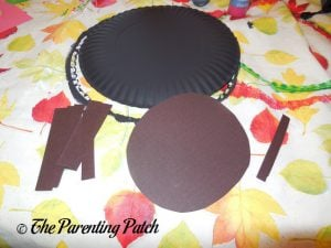 Paper Pieces for the A Is for Ant Paper Plate Craft