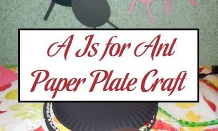 A Is for Ant Paper Plate Craft