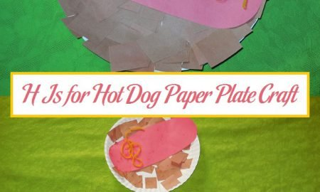H Is for Hot Dog Paper Plate Craft