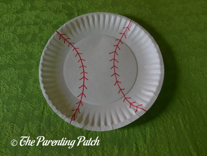 ... Finished B Is for Baseball Paper Plate Craft & B Is for Baseball Paper Plate Craft | Parenting Patch