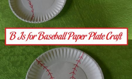 B Is for Baseball Paper Plate Craft