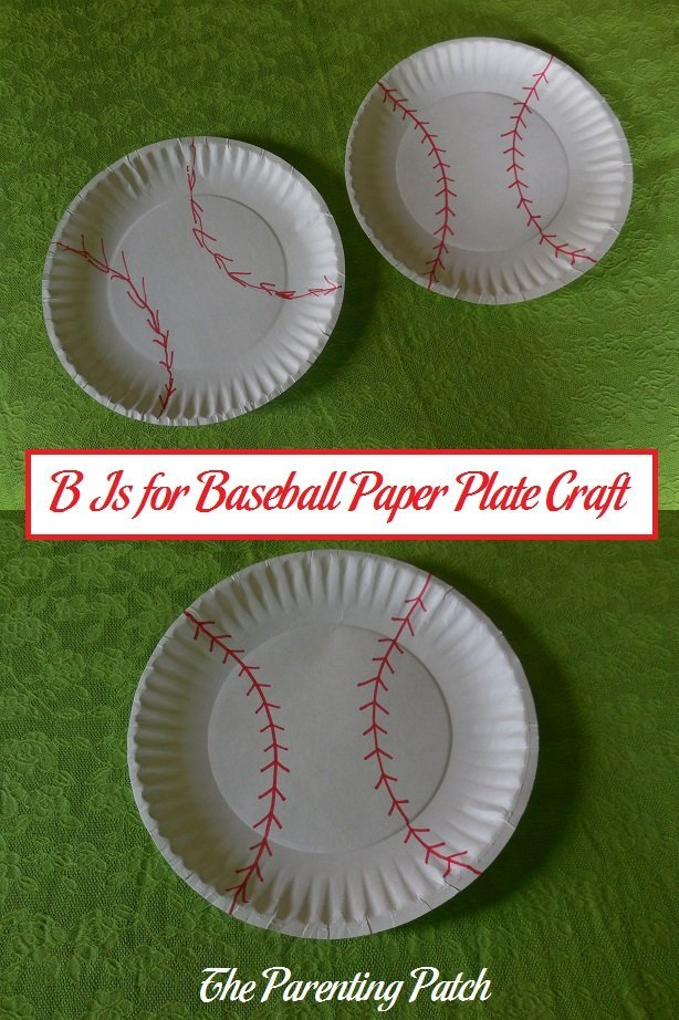 & B Is for Baseball Paper Plate Craft | Parenting Patch