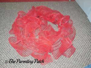 Red Deco Mesh for Deco Mesh, Ribbon, and Mesh Tube Christmas Wreath Craft