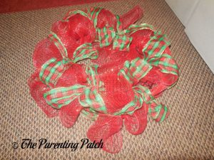 Plaid Ribbon for Deco Mesh, Ribbon, and Mesh Tube Christmas Wreath Craft