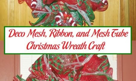 Deco Mesh, Ribbon, and Mesh Tube Christmas Wreath Craft