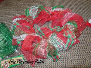 Red Mesh Ribbon for Deco Mesh, Ribbon, and Mesh Tube Christmas Wreath Craft