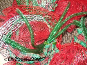 Green Bundle of Mesh Tube for Deco Mesh, Ribbon, and Mesh Tube Christmas Wreath Craft