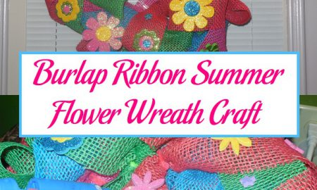 Burlap Ribbon Summer Flower Wreath Craft