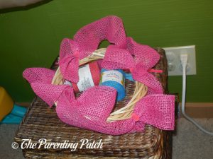 First Ribbon Loops on Burlap Ribbon Summer Flower Wreath Craft