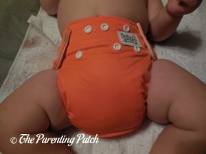 Front of Bottombumpers Front Snap One-Size All-in-One on 20 Pound Infant