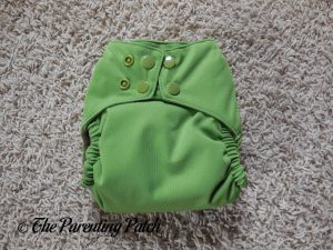 Front of Nicki's Diapers Ultimate All-in-One Snap Cloth Diaper on Smallest Rise Setting