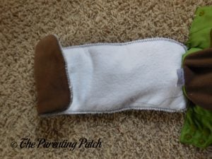 Foldable Panel of Insert of Nicki's Diapers Ultimate All-in-One Snap Cloth Diaper