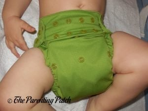Front of Nicki's Diapers Ultimate All-in-One on 22 Pound Toddler 1