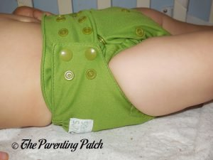 Side of Nicki's Diapers Ultimate All-in-One on 22 Pound Toddler 1
