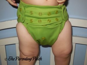 Front of Nicki's Diapers Ultimate All-in-One on 22 Pound Toddler 3