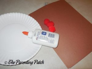 Materials for I Is for Ice Cream Paper Plate Craft