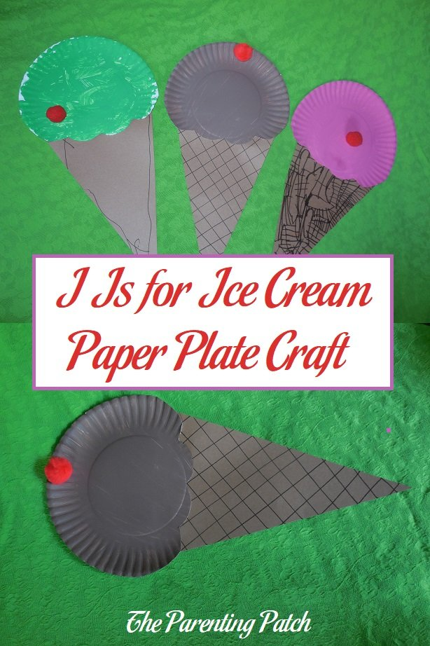 I Is for Ice Cream Paper Plate Craft