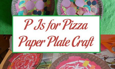 P Is for Pizza Paper Plate Craft