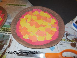 P Is for Pizza Paper Plate Craft Ready for Toppings