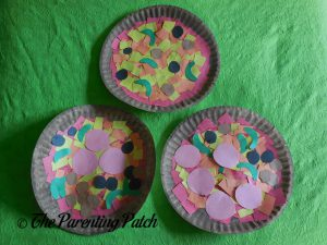 Finished P Is for Pizza Paper Plate Crafts