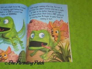 Inside Pages of 'Cutie Meets Mr. Lizard' 3