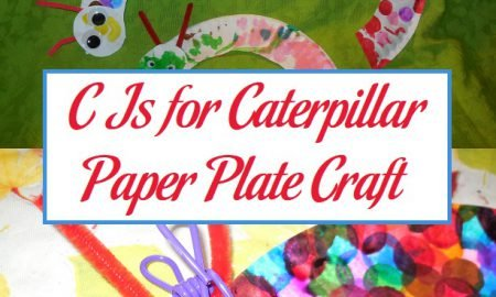 C Is for Caterpillar Paper Plate Craft