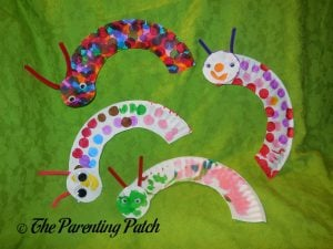 Finished C Is for Caterpillar Paper Plate Crafts