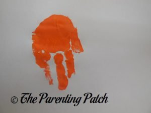One Orange Handprint for J Is for Jack-o-Lantern Handprint Craft