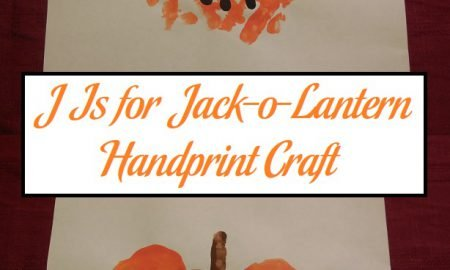 J Is for Jack-o-Lantern Handprint Craft