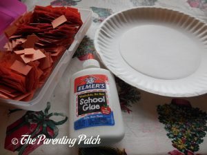 Materials for P Is for Pumpkin Paper Plate Craft