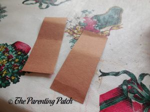 Brown Rectangles for P Is for Pumpkin Paper Plate Craft