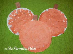 Finished P Is for Pumpkin Paper Plate Crafts