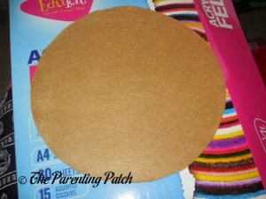 Tan Circle for Felt Pizza Toy