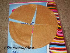 Sewing the Crust for Felt Pizza Toy