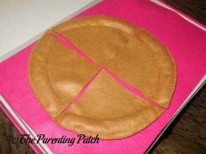 Crust for Felt Pizza Toy