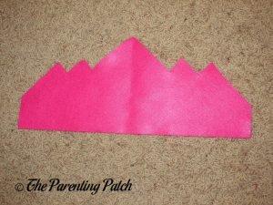 Dark Pink Felt Piece for Felt Tiara