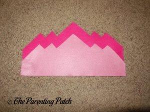 Dark and Light Pink Felt Pieces for Felt Tiara