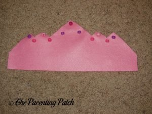 Sewing Beads to the Felt Tiara