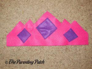 Sewing Felt Pieces to the Felt Tiara